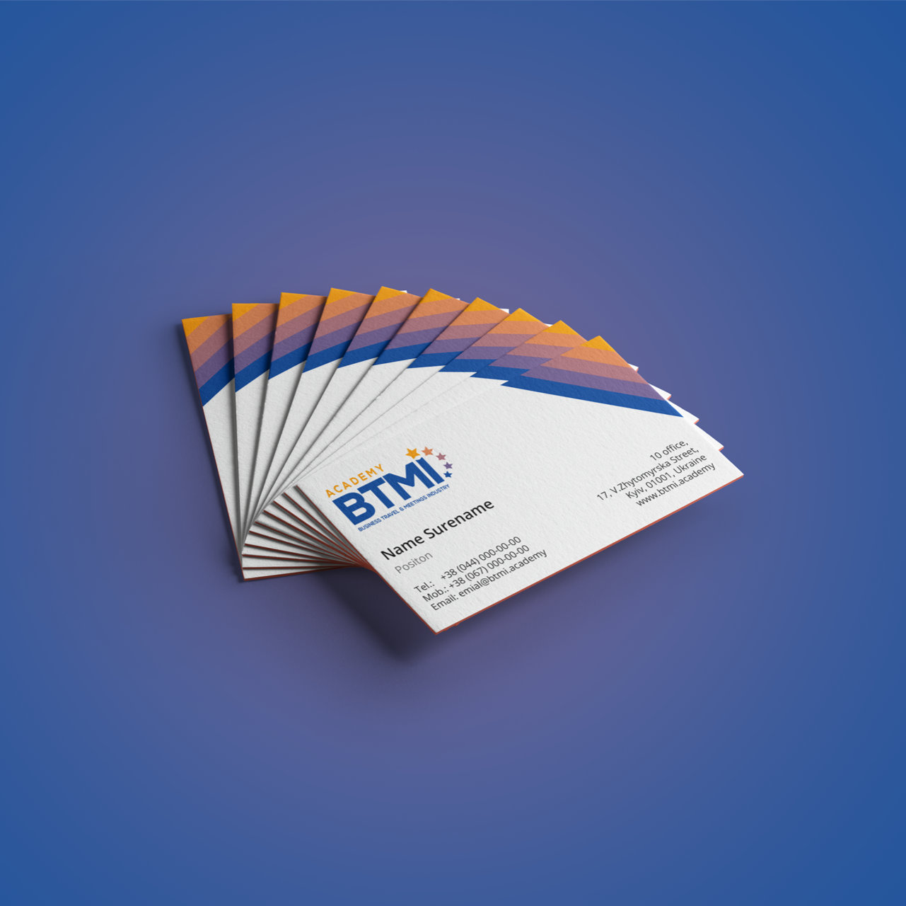 BTMI Business Cards Print Design